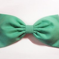 Sweet Pastel Spearmint Green Hair Bow (Alligator Clip)