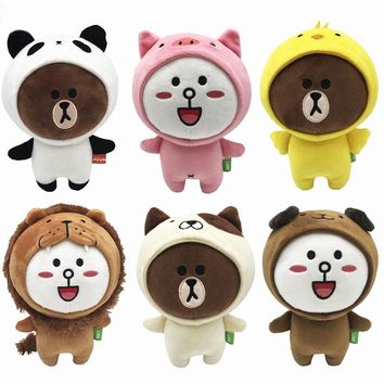 6 Pieces/lot 20 CM Beanie Boos Brown Bear Friends Six Styles Available Cony SALLY Plush Doll Toys Stuffed Gift Kids Toys Gifts