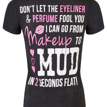 V-Neck: Makeup to Mud in 2 Seconds Flat