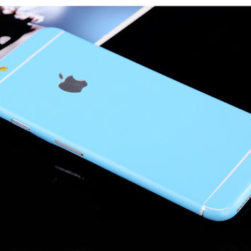 Light Blue Pure Decal Wrap Skin Set iPhone 6s 6 / iPhone 6s 6 Plus
