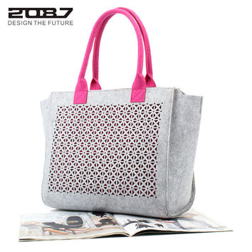 2087 Design Women Fashion Hollow-out Felt Handbag and Promotional Gift Bag for women/Lady Bag,handbag,bag for women/girl/female
