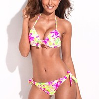 RELLECIGA Young & Gorgeous Push-Up Halter Top & Side-tie Bikini Set