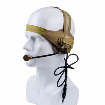 Tactical Headset II with Microphone for Military CS Shooting Hunting Games Walkie Talkie