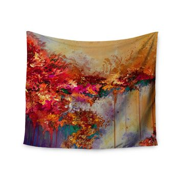 "Ebi Emporium ""When Land Met Sky 4"" Red Purple Wall Tapestry"