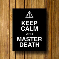 Keep Calm Harry Potter Deathly Hallows 8 x 10 by EntropyTradingCo