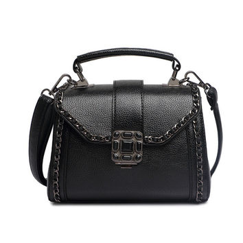 Women's Soft Leather Satchel Crossbody Bag
