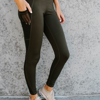 Libby High Rise Legging (Olive)