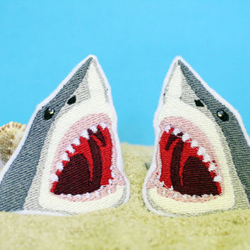 Great White Shark Hair Clips