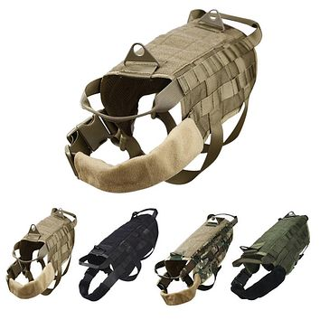 Outdoor Hunting Tactical Military Training Dog Harness Clothes Nylon Pet Vests