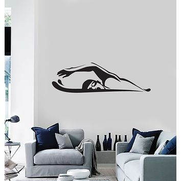 Vinyl Decal Wall Sticker Decor Sport Swim Swimmer �rawl Breaststroke (g048)