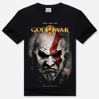 Black The Art of God of War Print 3D Rock and Roll Short Sleeve T-Shirt