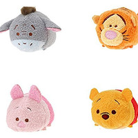 Disney Winnie the Pooh and Pals ''Tsum Tsum'' Plush - Mini - 3 1/2'' Tigger, Piglet, Pooh, and Eeyore