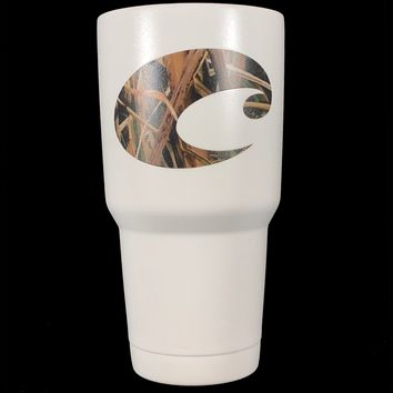 Costa Camo - 30 oz Custom Powder Coated Yeti / Custom Coated Cups Tumbler - (Logo is SEALED)