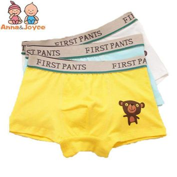 4pcs/lot Boys boxer underwear kids boxer panties cotton underpants  baby boys clothes   for3-9Y