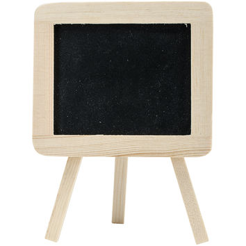 "Wood Craft DIY Chalkboard Easel 5.5""""X4""""-"