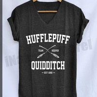 Hufflepuff Quidditch EST.1092 Shirt Harry Potter Shirts V-Neck Unisex S M L