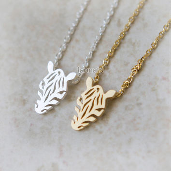 Zebra Necklace / Choose your color / gold and silver