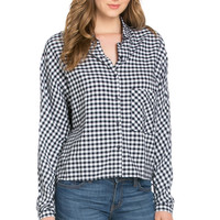 Gingham Shirt Navy White