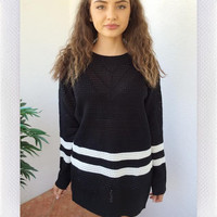OUT OF YOUR LEAGUE OVERSIZE SWEATER- BLK