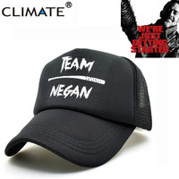 The Walking Dead Team Negan Summer Cool Black Mesh Trucker Caps Adjtable Men Women Baseball