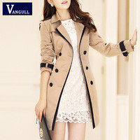 VANGULL Trench Coat For Women 2016 Fashion