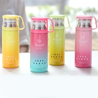 COLORFUL  2016  Fruittea Thermos Thermo Mug Vacuum Cup Thermal Thermos Mug 350ML Insulated Tumbler Travel Cups Thermocup Mugs