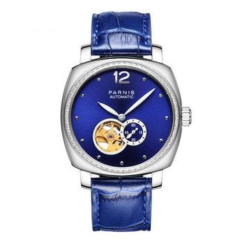 Parnis DIPPER Seriers Women Leather Watchband Fashion Automatic Mechanical Watch Wristwatch