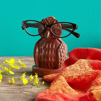 Owl Eyeglasses Holder | wooden, bird, glasses holder, handmade