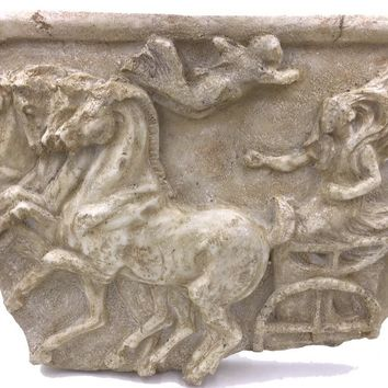 Greek Victory Chariot Race with Quadriga Four Horses Olympic Wall Hanging 20L