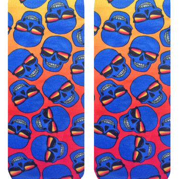 Bad to the Bone Orange Ankle Socks