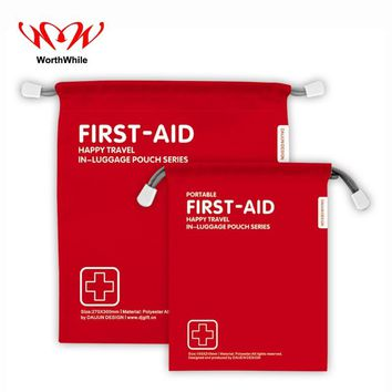 WorthWhile First Aid Medical Drawstring Pouch Ultralight Portable Bag for Outdoor Camping Emergency Situation