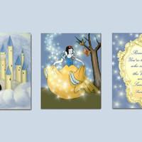 Snow White Nursery wall art, Nursery Decor, Princess Wall Art, Nursery Prints, Kids Art, Princess Decor, Girls room Decor, Baby Girl Nursery