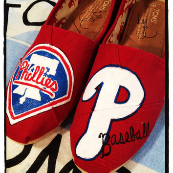 Custom Toms Shoes/ Phillies Baseball