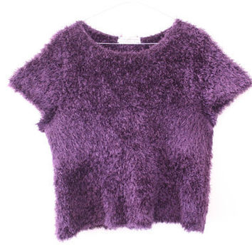 SALE  Shaggy / Fluffy / Fuzzy Slouchy Tee / Crop Top