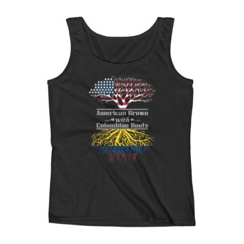 American Grown With Colombian Roots - Ladies' Tank