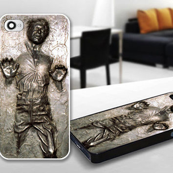 Star Wars Han Solo Carbonite Frozen Print Case for iPhone 4/4s, 5, 5c, 5s, Samsung S3, S4