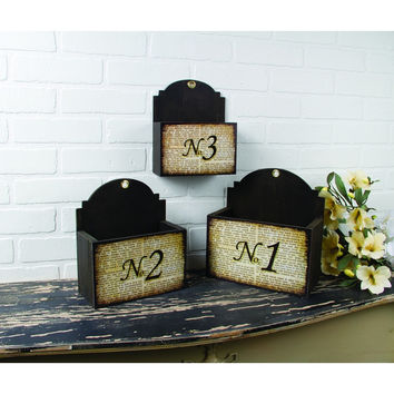 TYPOGRAPHY NESTING TABLE WALL BOXES SET OF 3