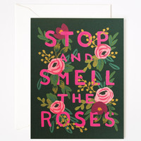 Rifle Paper Co. - Stop and Smell the Roses Card