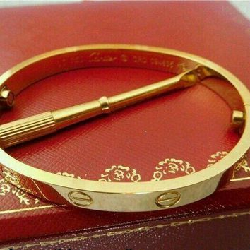 One-nice? *#Cartier Love bracelet 18k Yellow gold size 17