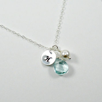 Personalized Necklace, Personalized Jewelry, Initial Necklace, Silver Initial Necklace, Initial Charm Necklace, Starring You Jewelry