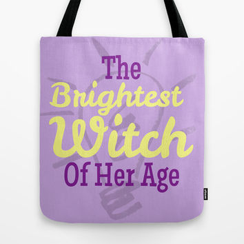 The Brightest With of Her Age - Harry Potter Tote Bag by Lauren Ward