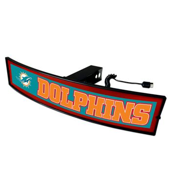 FANMATS Miami Dolphins Light Up Hitch Cover - LED Hitch Cover