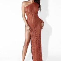Sierra Lani Knit One Shoulder Dress