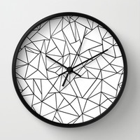 Abstract Outline Black on White Wall Clock by Project M | Society6