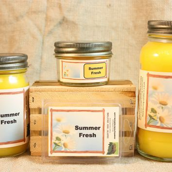 Summer Fresh Scent Candles and Wax Melts, Nature Scent Candle Wax, Highly Scented Candles and Wax Tarts, Summertime Scent
