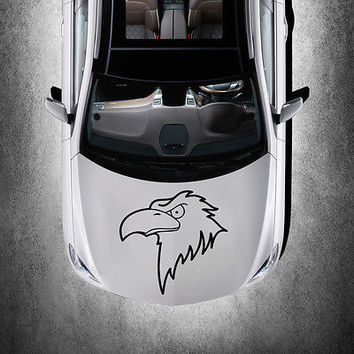 BEAUTIFUL BIRD EAGLE ANIMAL ART DESIGN HOOD CAR VINYL STICKER DECALS SV1291