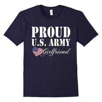 Pride Military - Proud U.S. Army Girlfriend Heart T-shirt