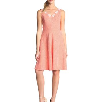 Anne Klein Women's Seersucker Fit and Flare Dress