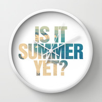 Is it Summer yet? Wall Clock by RexLambo