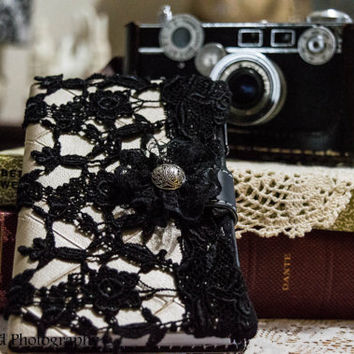 Journal/Diary With Embroidered Lace Overlay